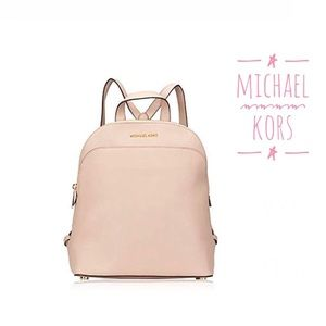 New Michael Kors Leather Backpack bag purse pink L